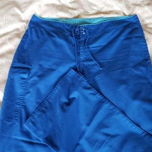 Pants - Royal Blue Surf Style Scrub Pant M